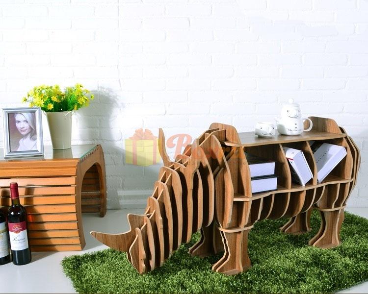 Носорог - дизайнерский компьютерный стол - шкаф - книжная полка в зал Носорог